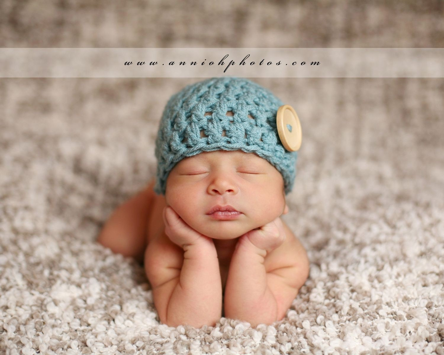 Baby Boy Newborn Hat Crochet Pattern : CROCHET PATTERN Newborn Hat Button Hat Baby by ...