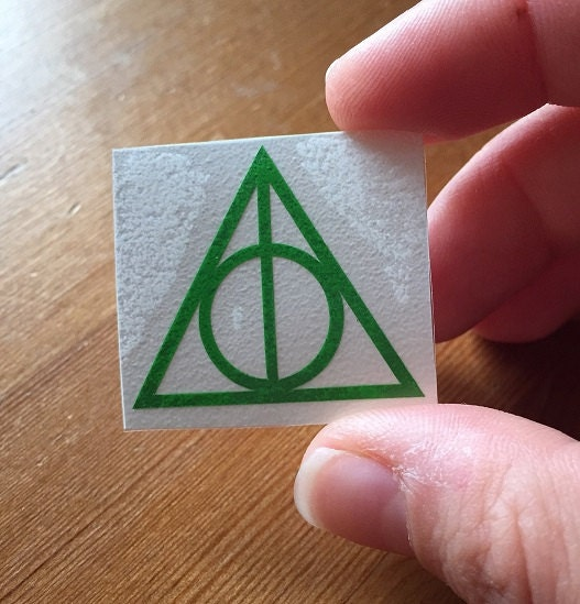 Deathly Hallows Sticker Harry Potter Inspired Decal Laptop Sticker MacBook Decal Tablet Sticker Gift For HP Fan  Set Of 510
