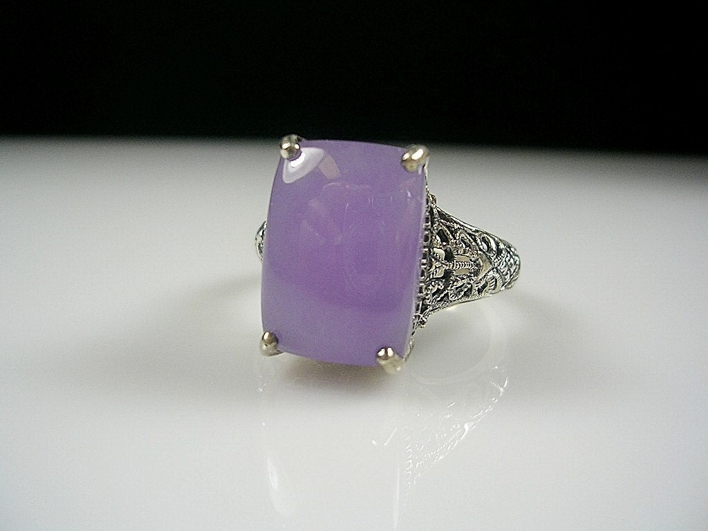 Vintage Lavendar Stone Ring by tofcreations on Etsy from etsy.com