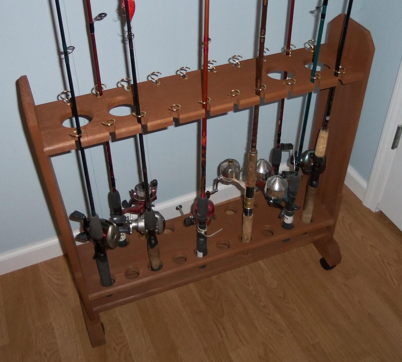 Wooden Fishing Rod Rack Plans