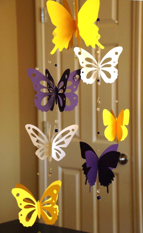 Мобиль из бабочек своими руками шаблоны