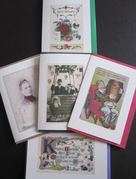 BOX SET OF 10 VINTAGE GREETING CARDS