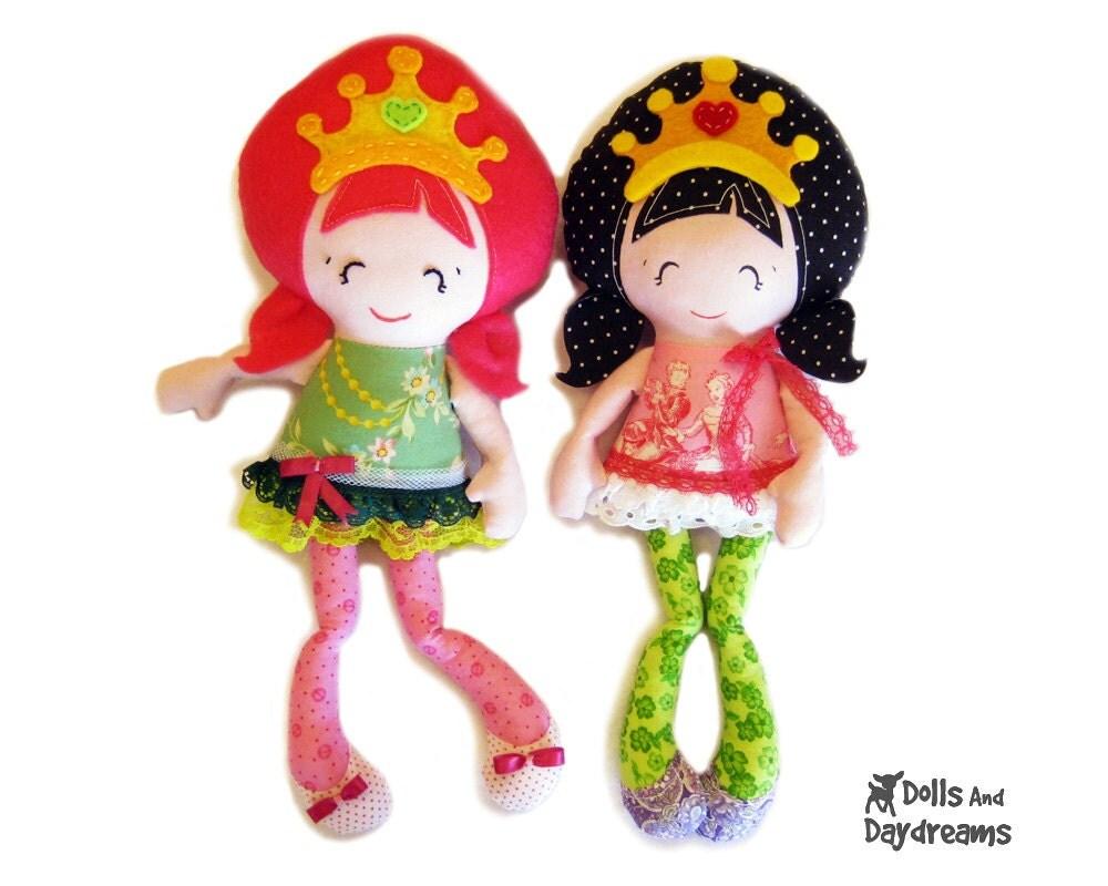 Принцесса строчки Карманный небольшие куклы ткани