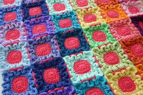 Blanket Crochet Pattern Doodle Dots Baby by FeltedButton ...