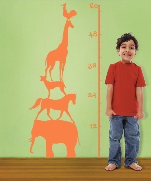 Vinyl Wall decal---KIDS GROW CHART---Wall Art Home Decors Murals Vinyl Decals Stickers