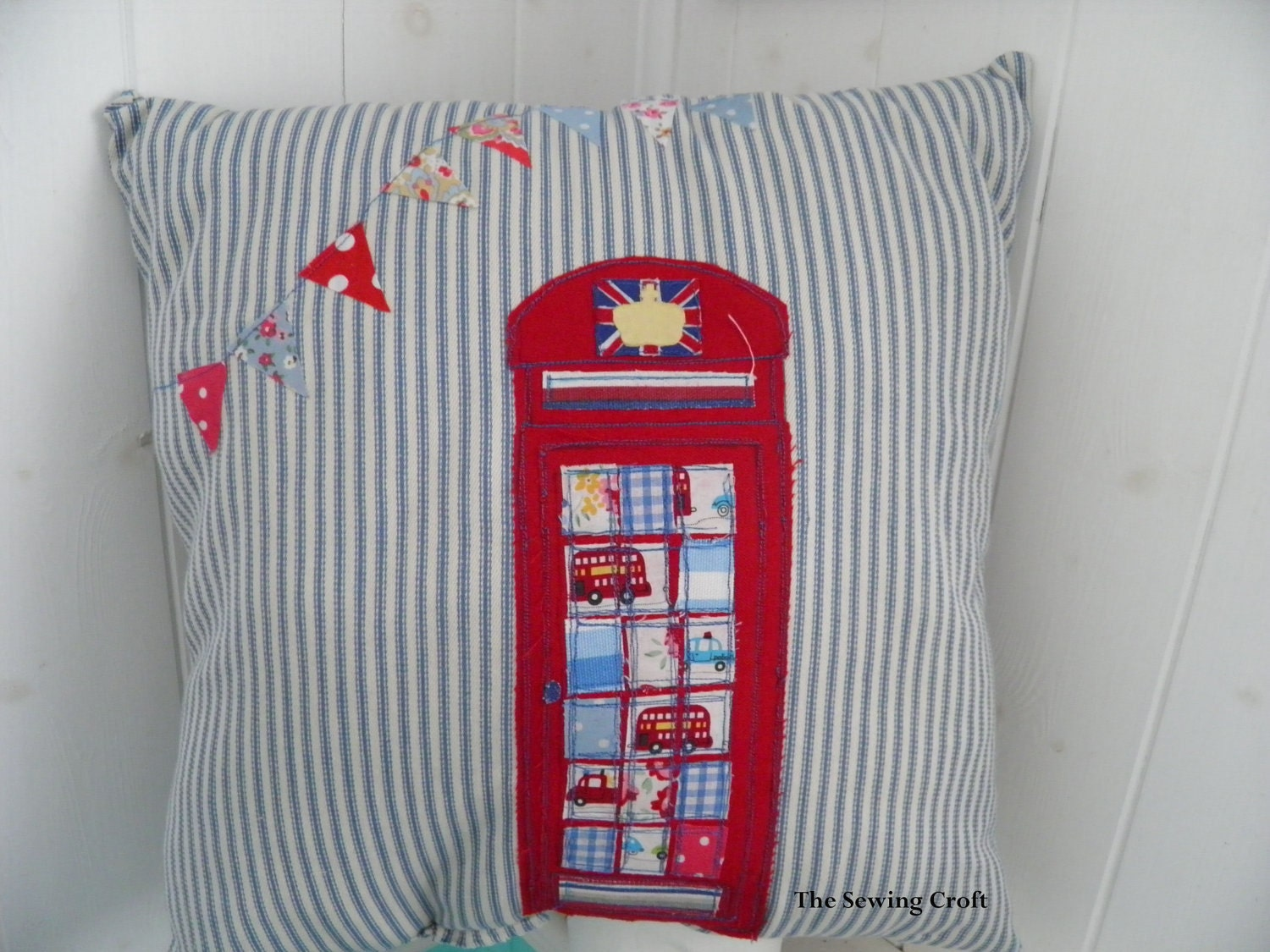 British Red Telephone Box London Jubilee Bunting UK phone box