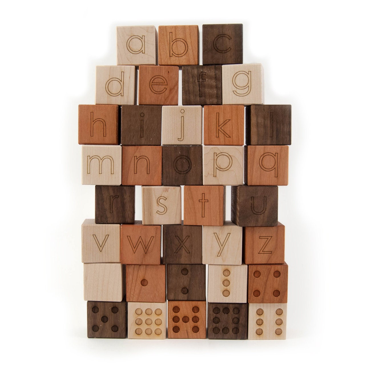 Alphabet and Number Building Blocks Set