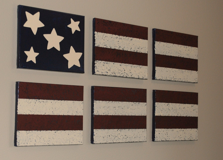 Americana Wall Decor Acrylic Paint On Canvas By