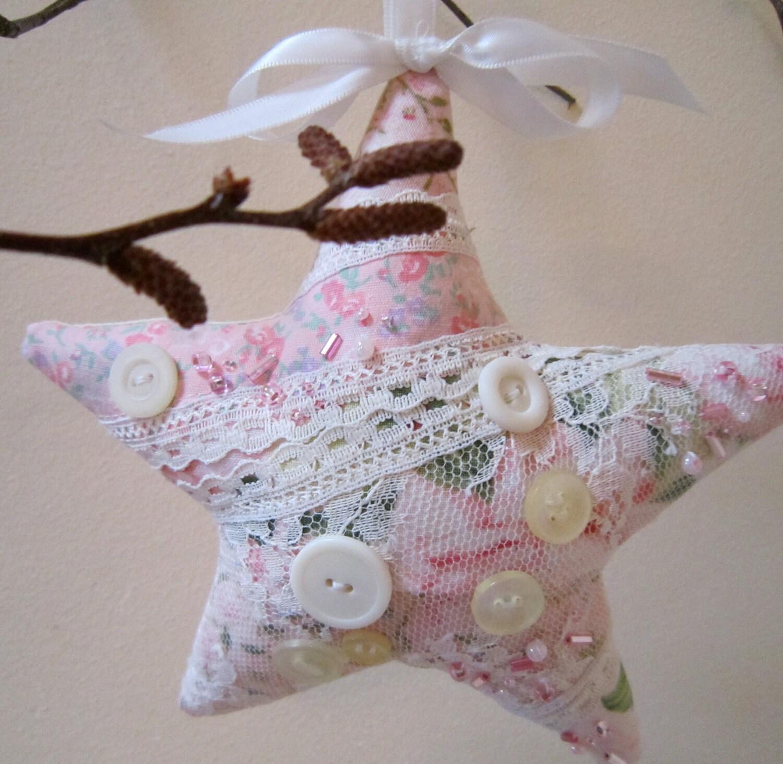 Розовый Потертый Орнамент звезда
