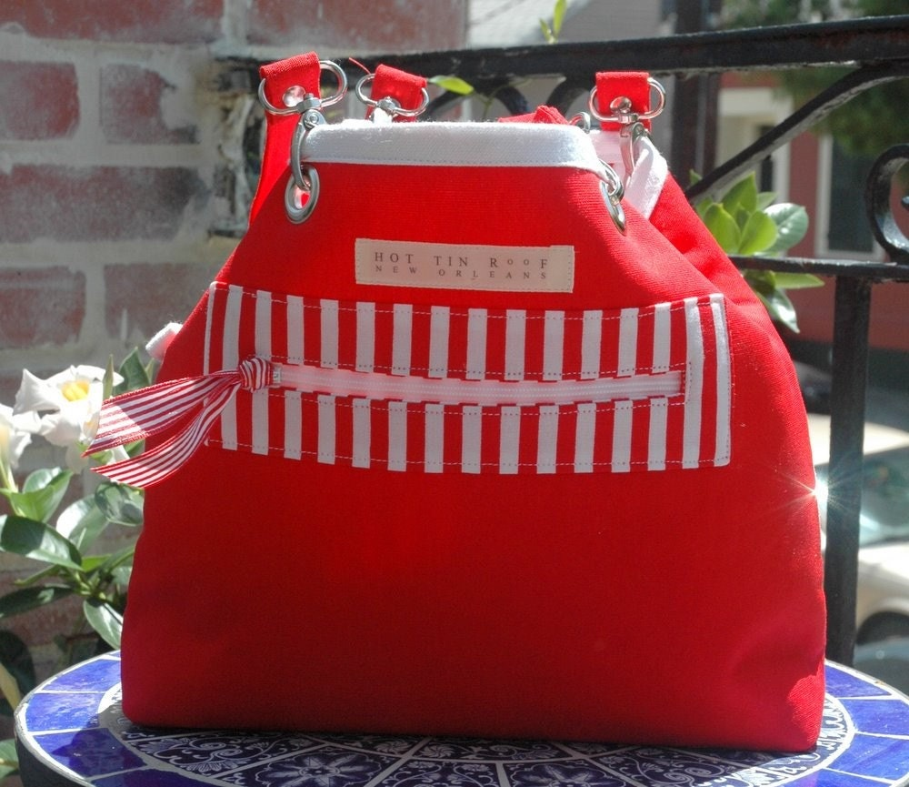 Reversible Mini Tote Bag MELANIE Stripe