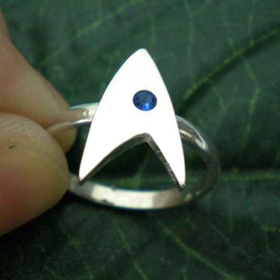 Unique Trek Wedding Ring Geek Nerd Star Trek Fans By Yhtanaff