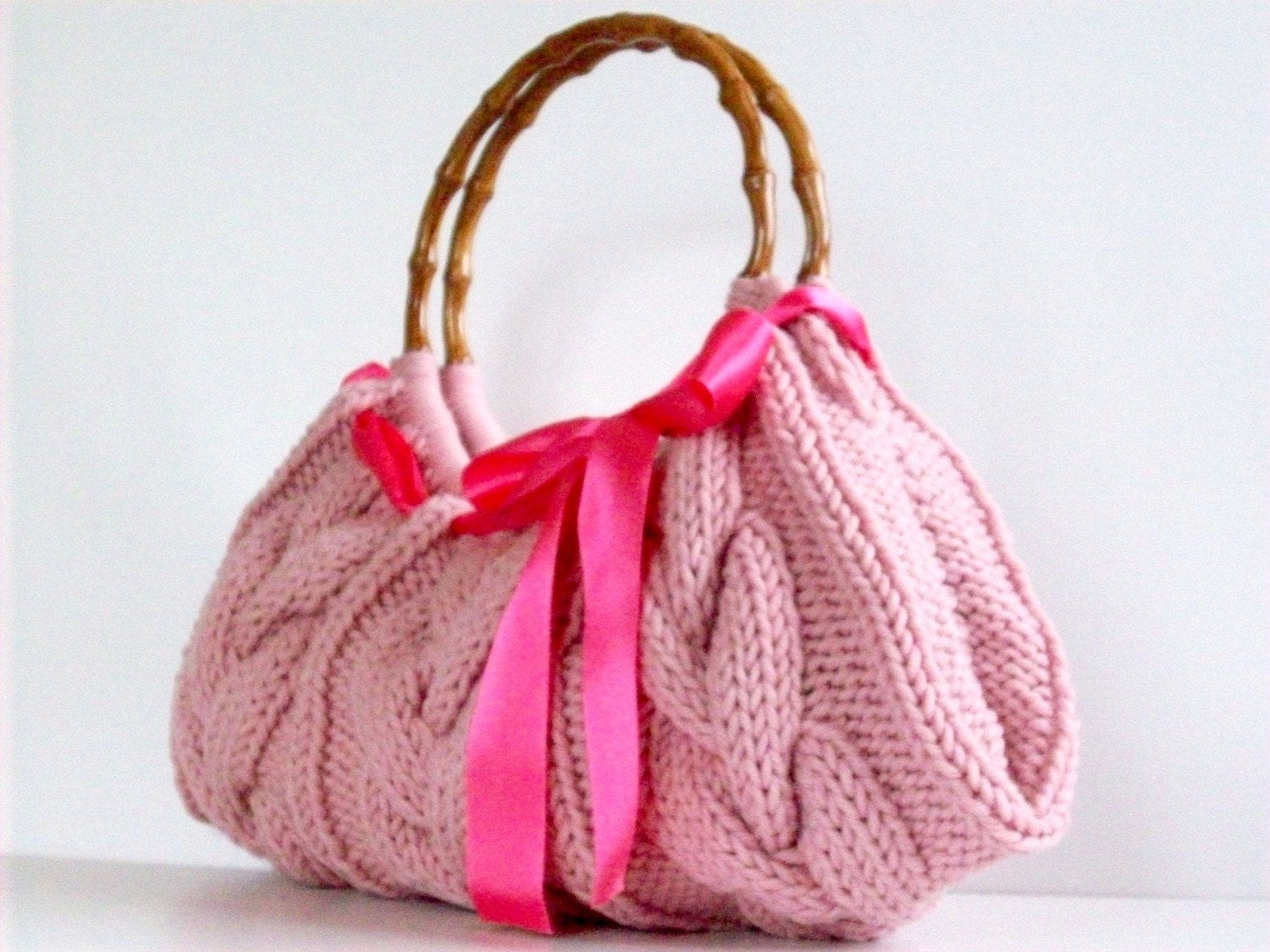 Handmade Knitting Bag Pattern : Knitted bag NzLbags Handmade Handbag Shoulder Bag by NzLbags