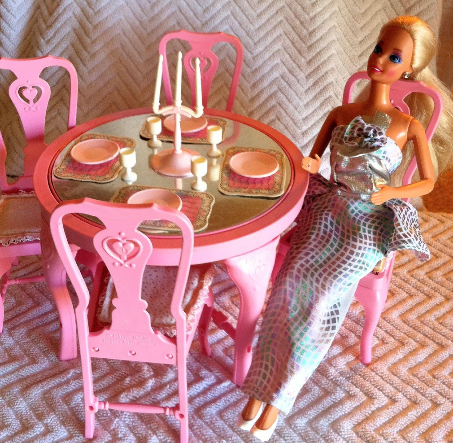 Barbie Room: Vintage Barbie's 1987 Dinning Room Set Part By