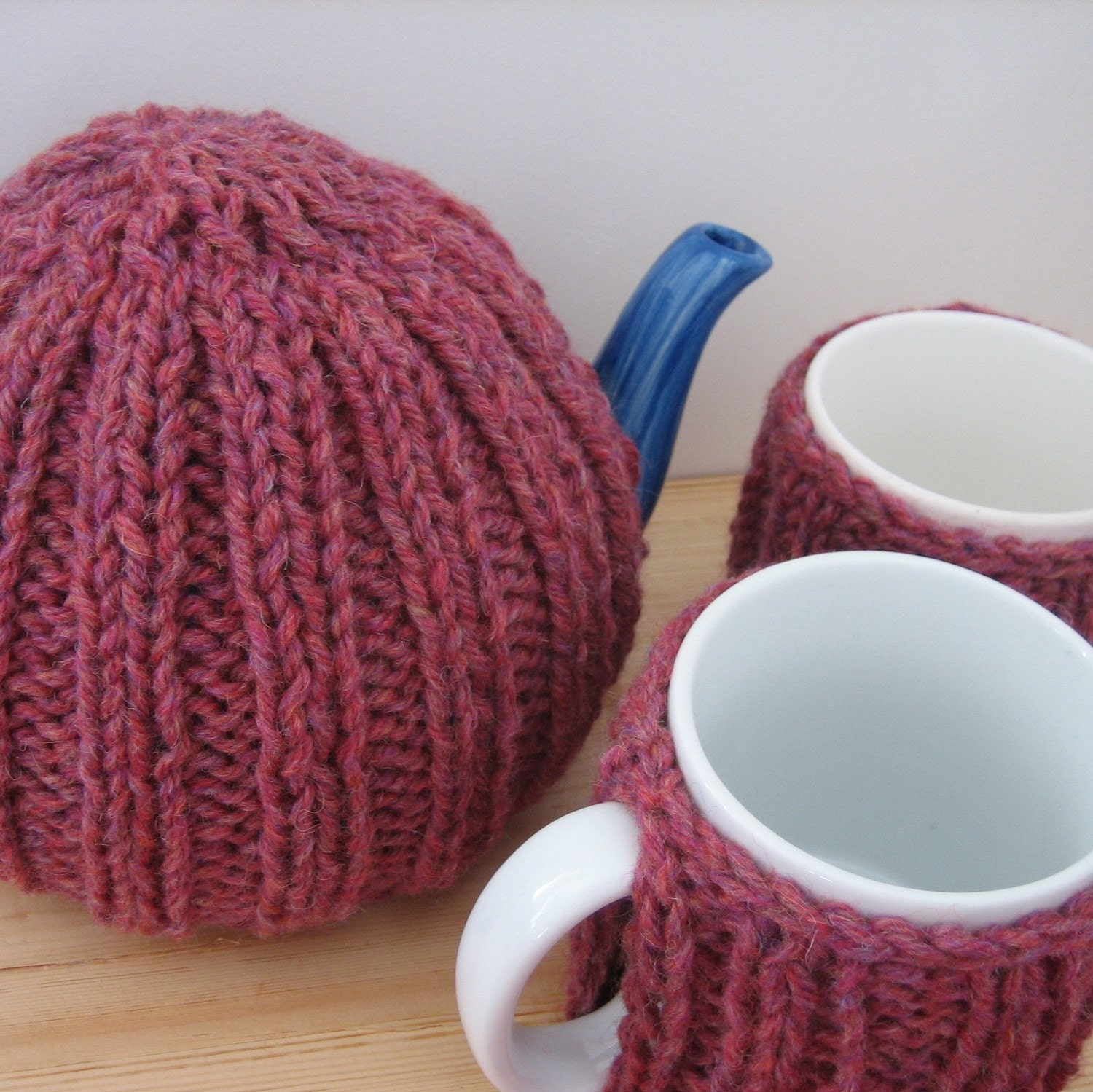 Tea-Time Gift Set in Heather Pink