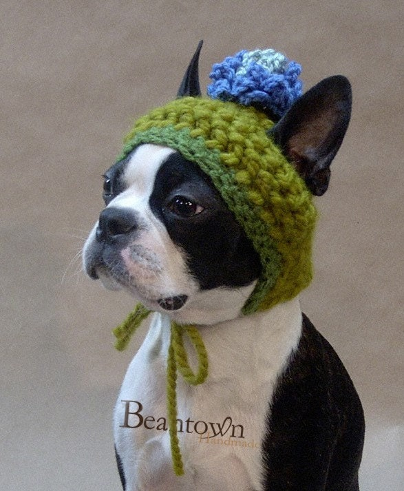 Bean Note Card - The Blue Blossom Dog Hat