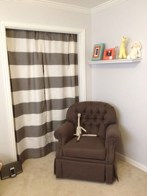 Items Similar To Horizontal Stripe Curtains 96 Long On Etsy