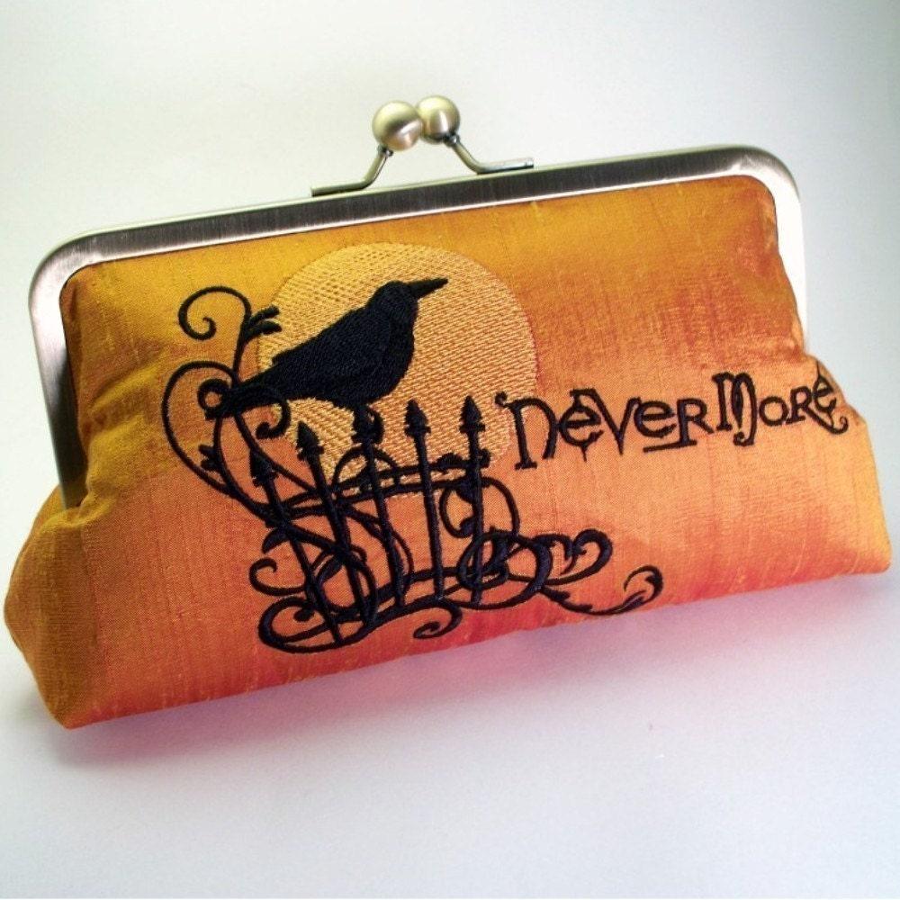 Raven clutch purse