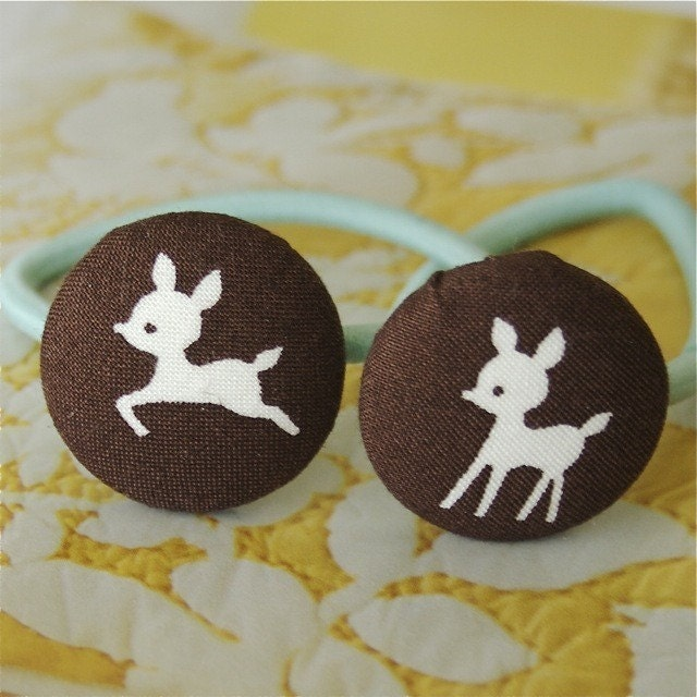little brown deer ponytail holders