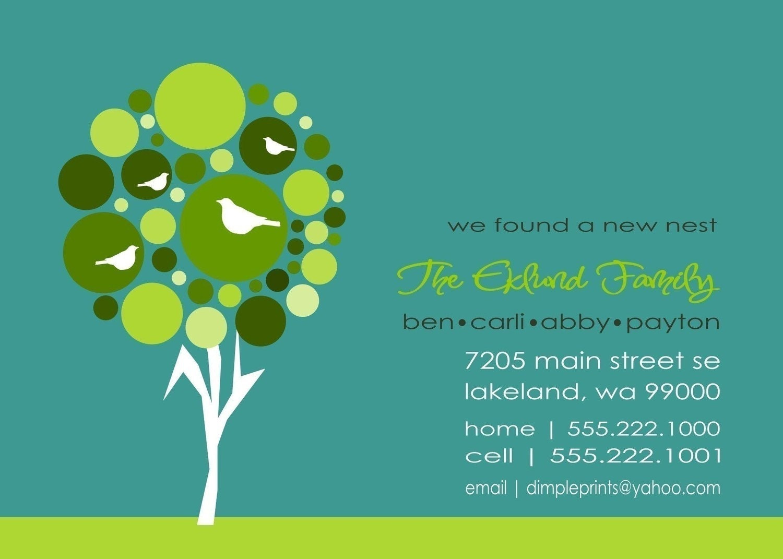 Custom You Print Digital Just Moved..New Address Card