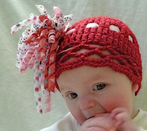 Red Hat with Valentine Korker Bow