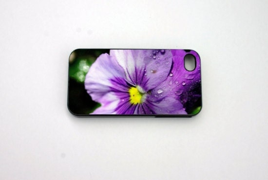 iphone 4 case,  iphone case, iphone 4s case,Flower, Purple, Hard Plastic iphone 4 Case