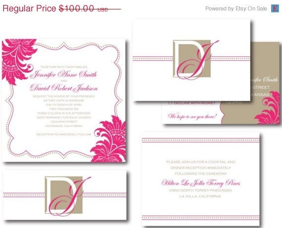 ON SALE Tabby Invitation Set (Digital Files)