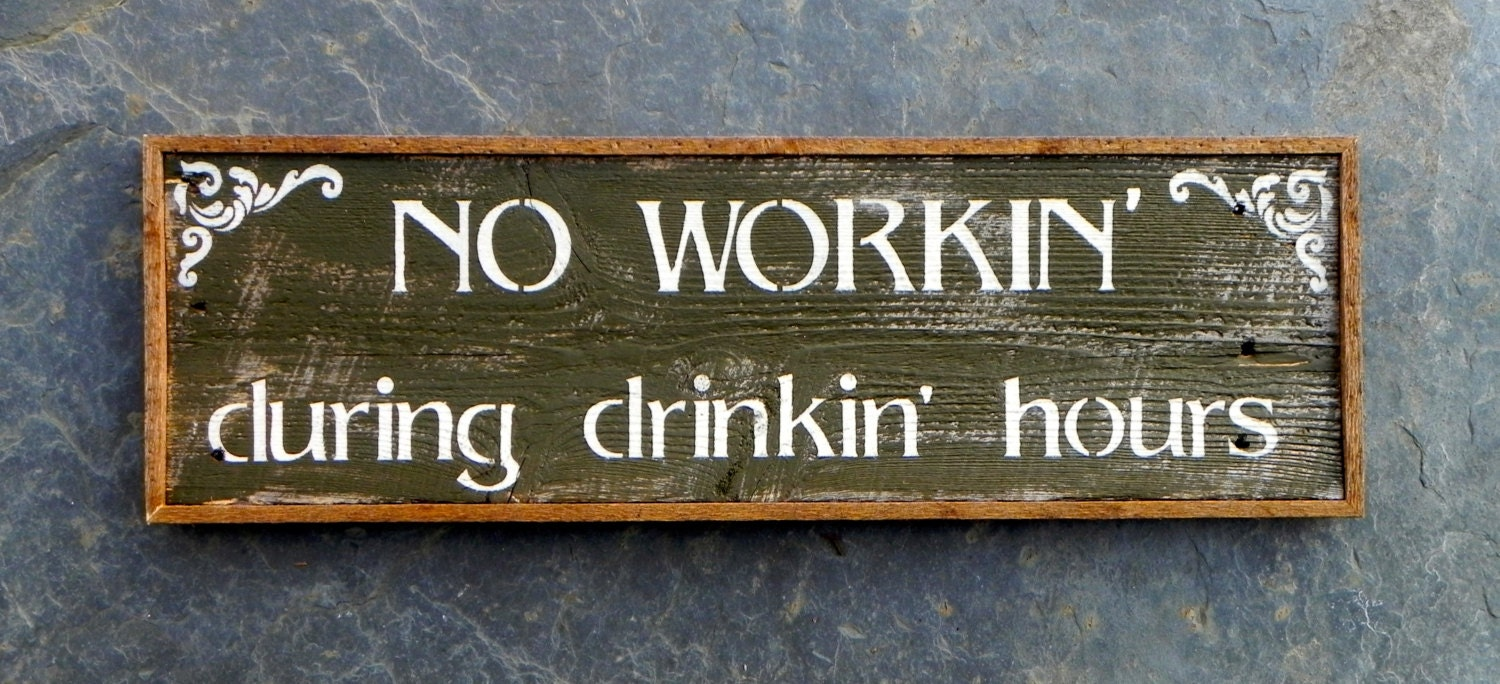 Wall Decor Signs : Wood signs bar sign western wall decor funny by crowbardsigns
