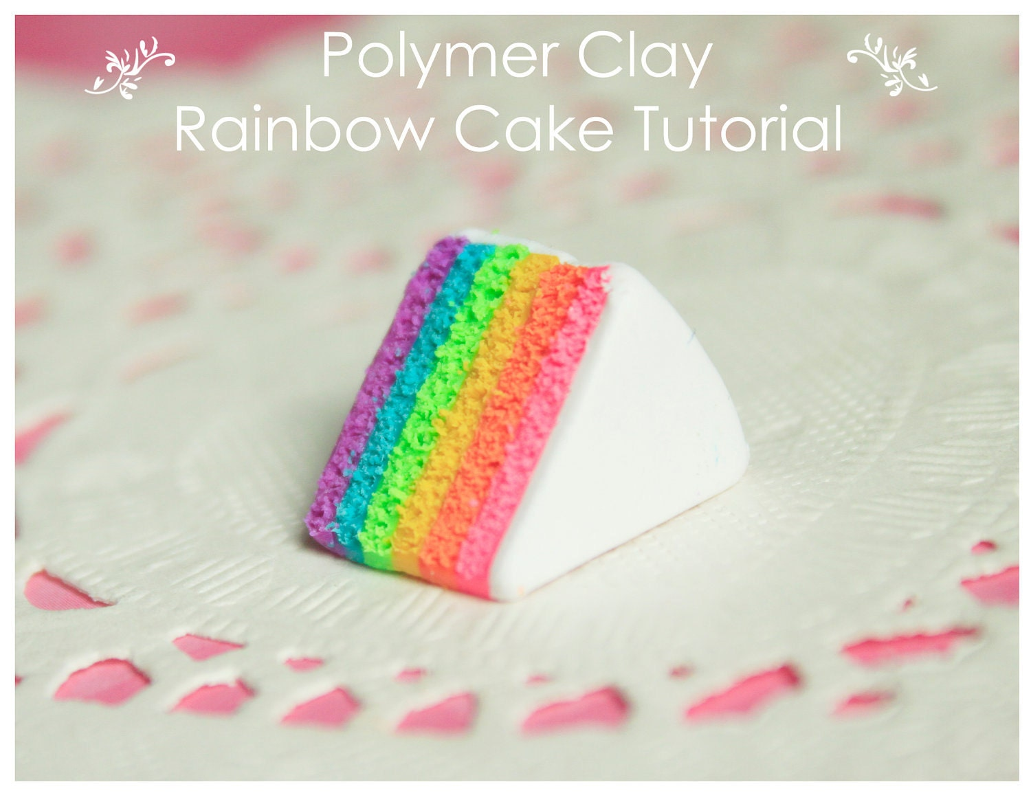 60% OFF - Miniature Polymer Clay Rainbow Cake Tutorial