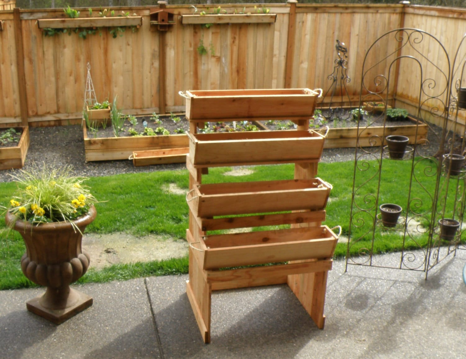 Unavailable listing on etsy for Vegetable garden planters