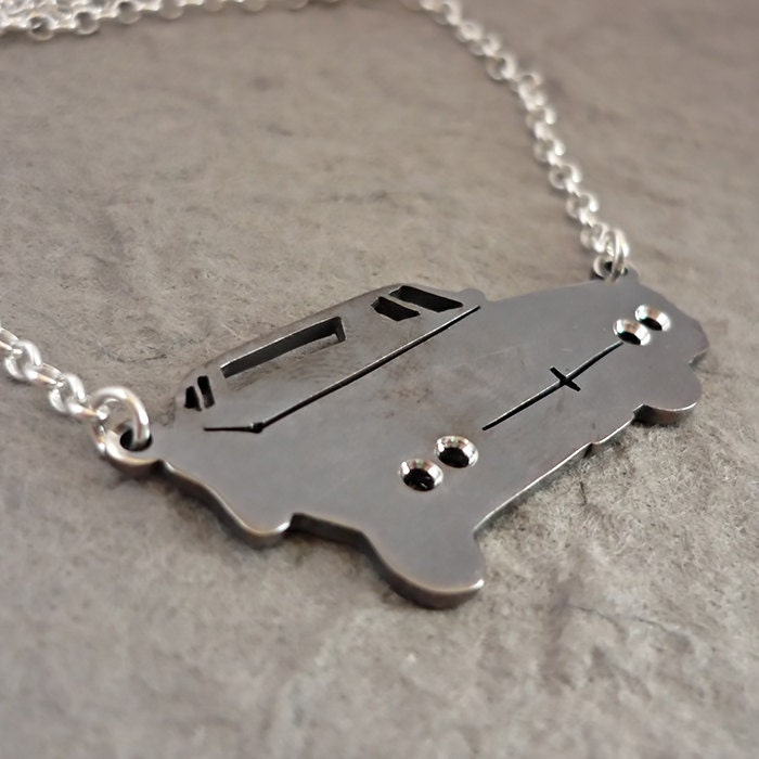 Winchestermobile - sterling silver Supernatural Impala inspired Pendant