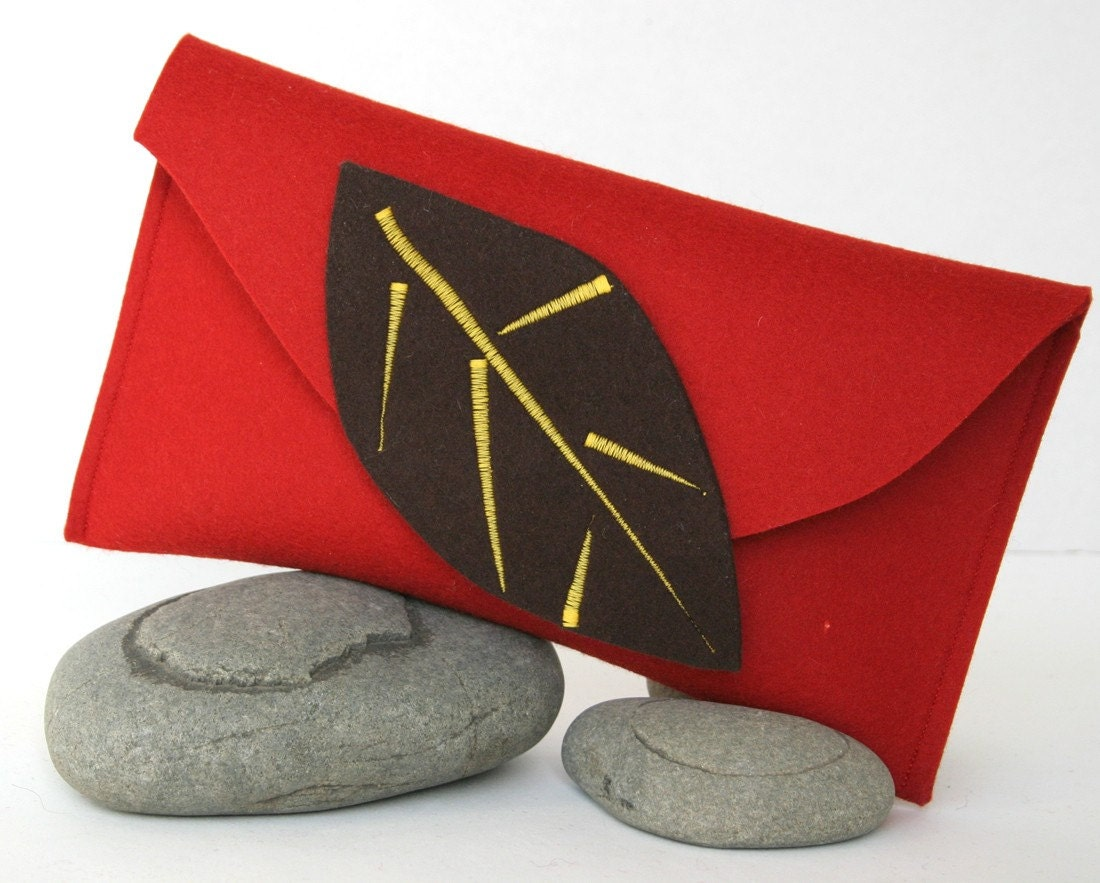 Fall Inspired Wool Felt Clutch