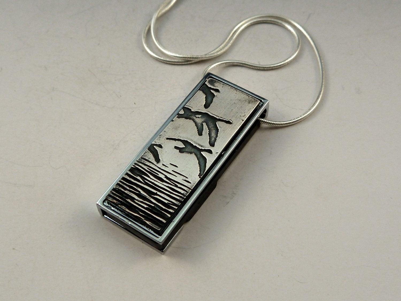 usb flash drive necklace handmade jewelry by deborahlaun