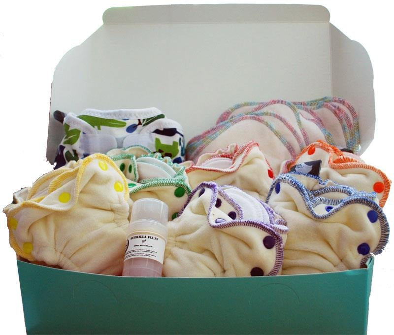 Guerilla Fluff:  Little Squishy Newborn Cloth Diaper 6 Pack