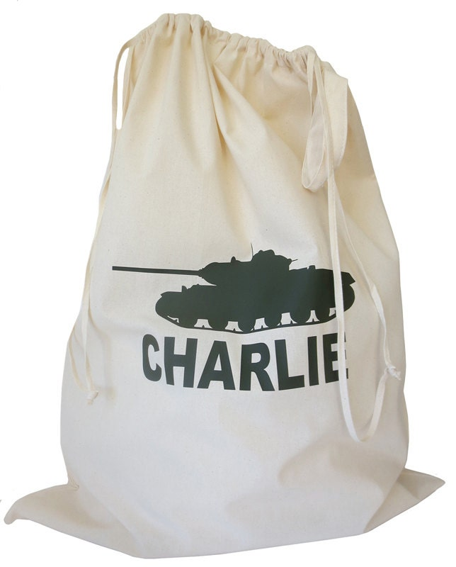 Toy Storage Kids Storage Drawstring Bag Army Tank Laundry Bag Custom Storage Toy Sack Drawstring Toy Sack Kids Room