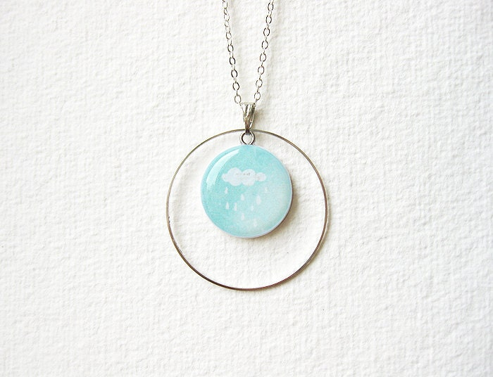 FREE WORLDWIDE SHIPPING - Litttle Cloud Mint Necklace - smafactory