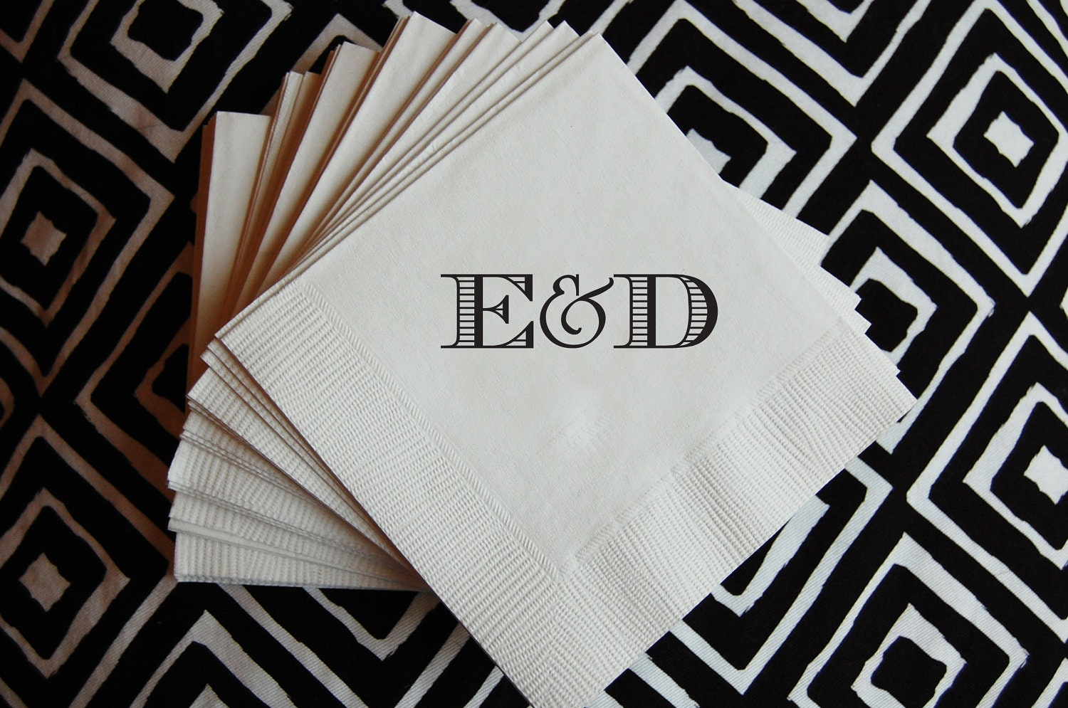 Wedding Cocktail Napkins - Beverage Napkin 200