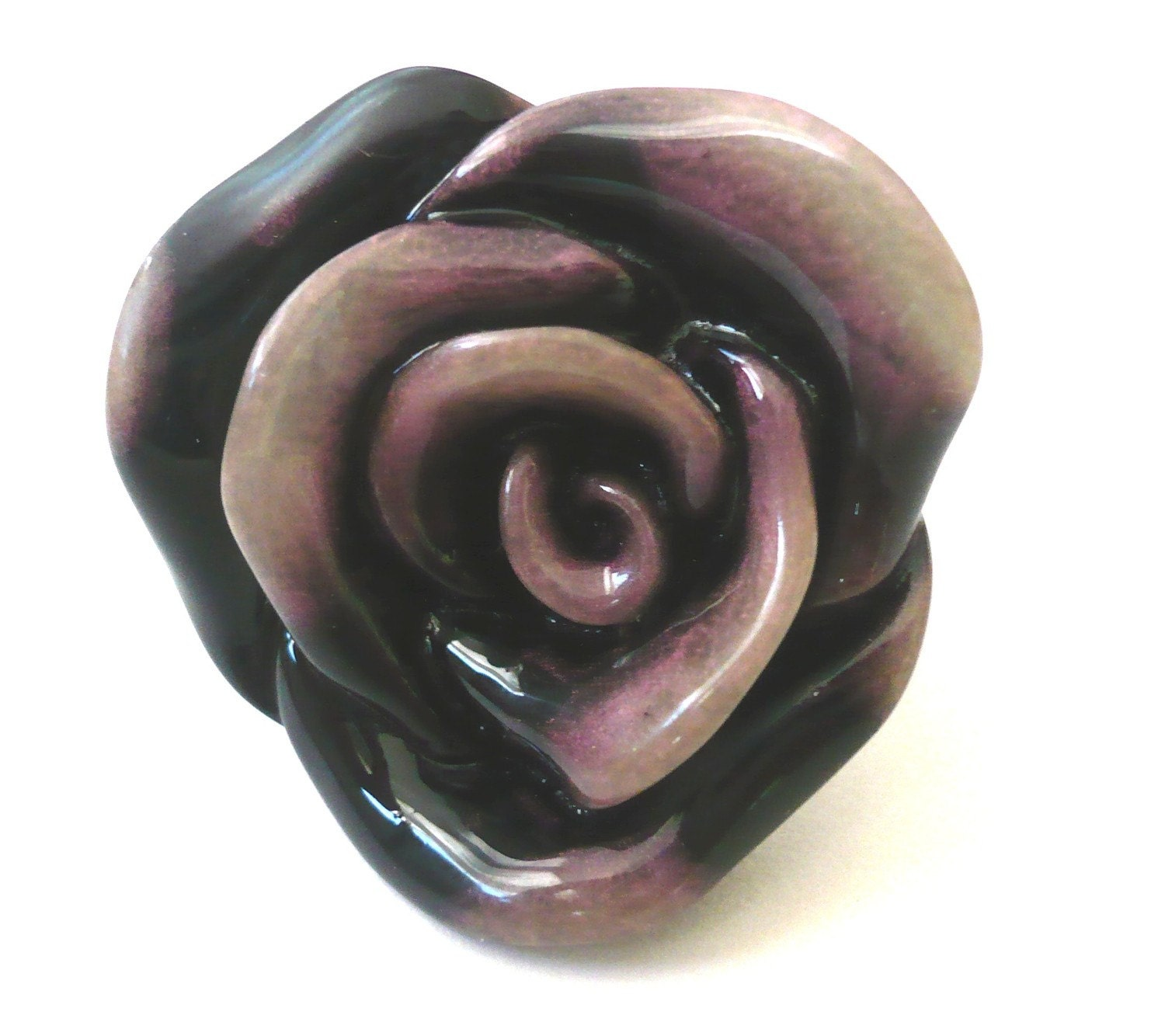 Purple Swirl Bold and Chunky Rose Ring