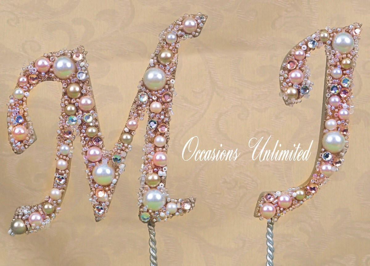Wedding Cake Toppers With Bling