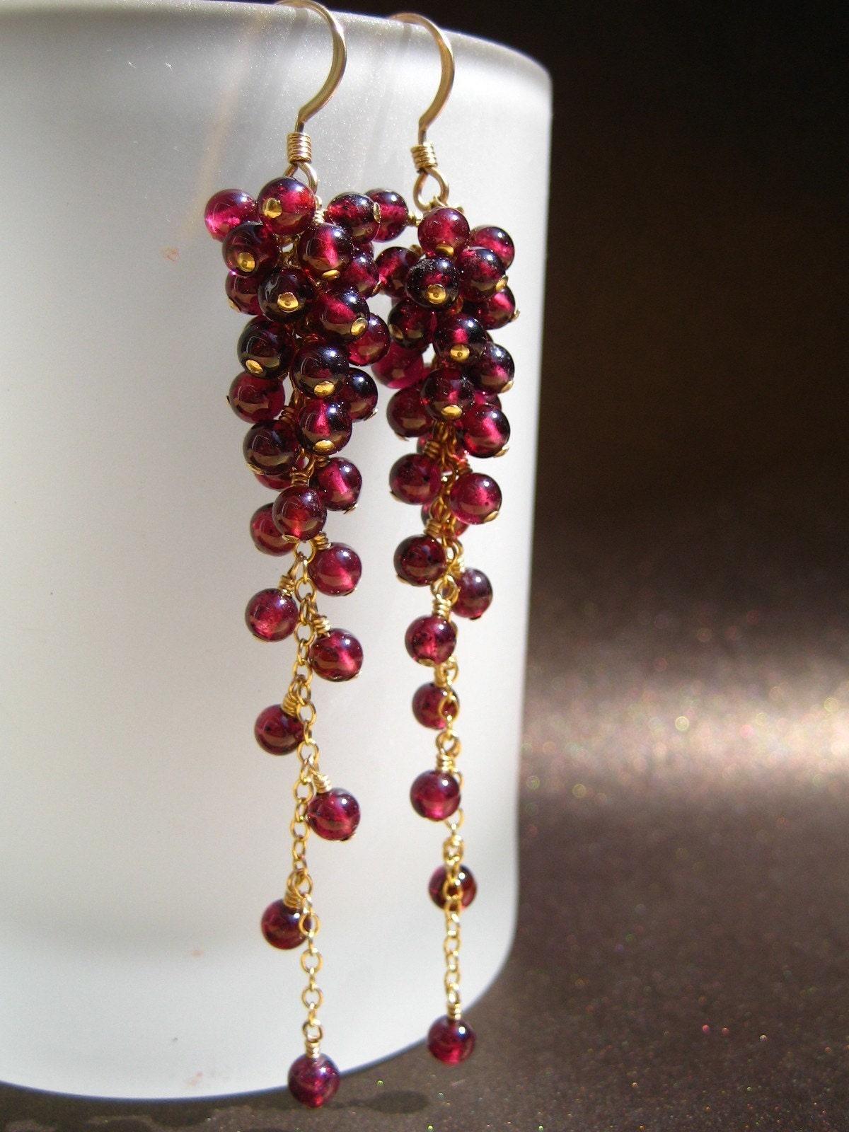 Bordeaux - Garnet earrings