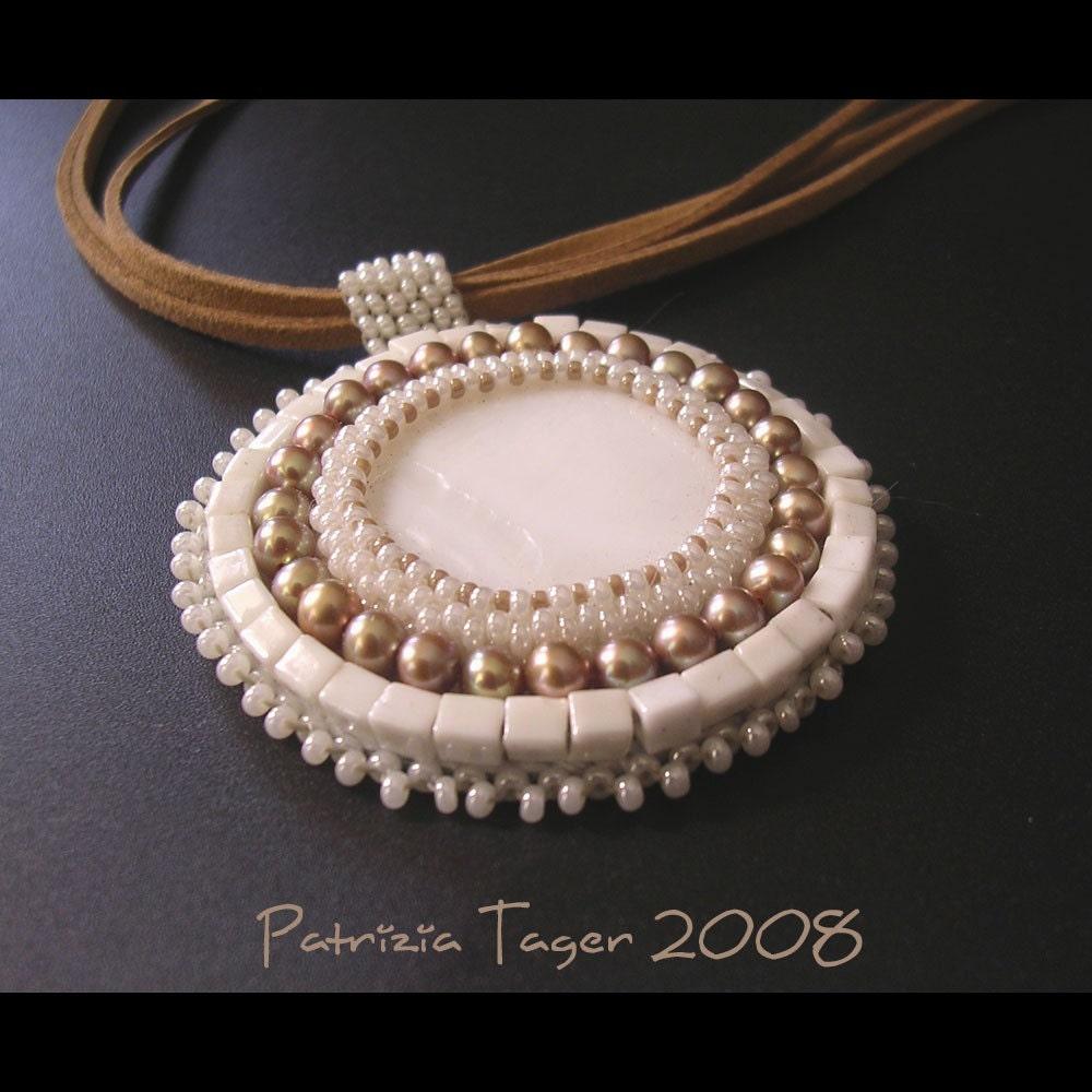 Cream and Pearl Pendant