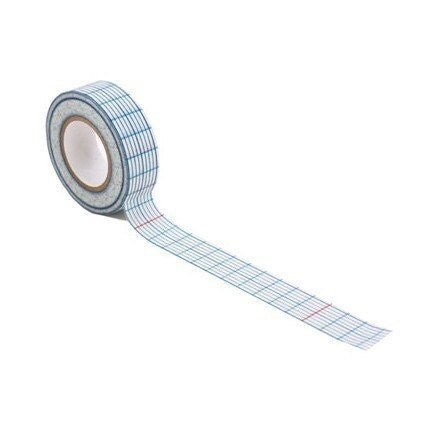 check paper masking tape - blue 18mm single roll