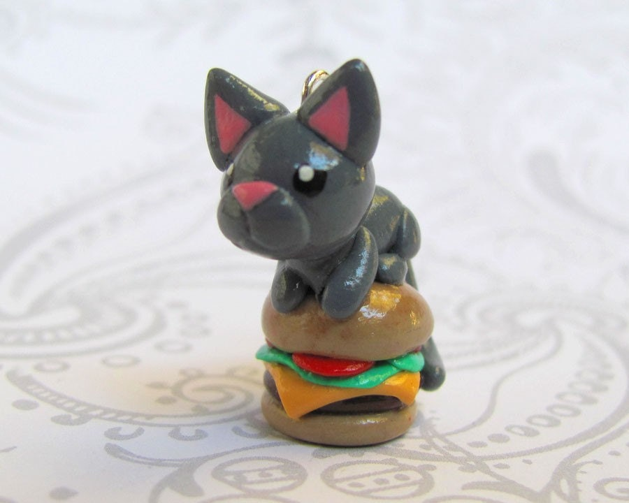 Cheeseburger Lol-Cat Charm