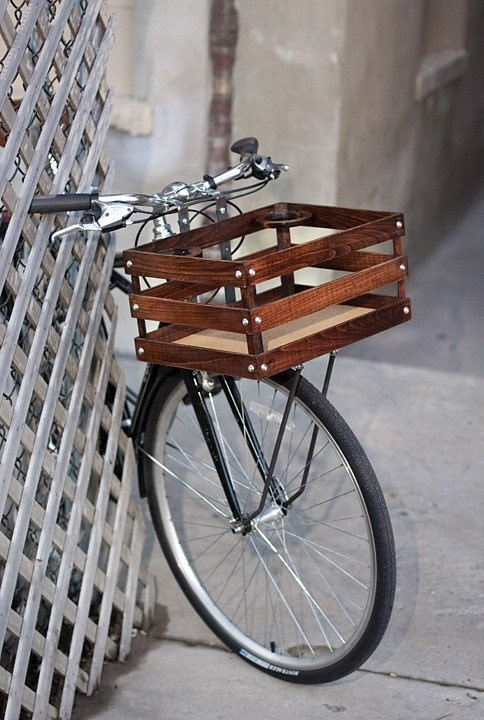 classic handmade wood porter crates for bicycles