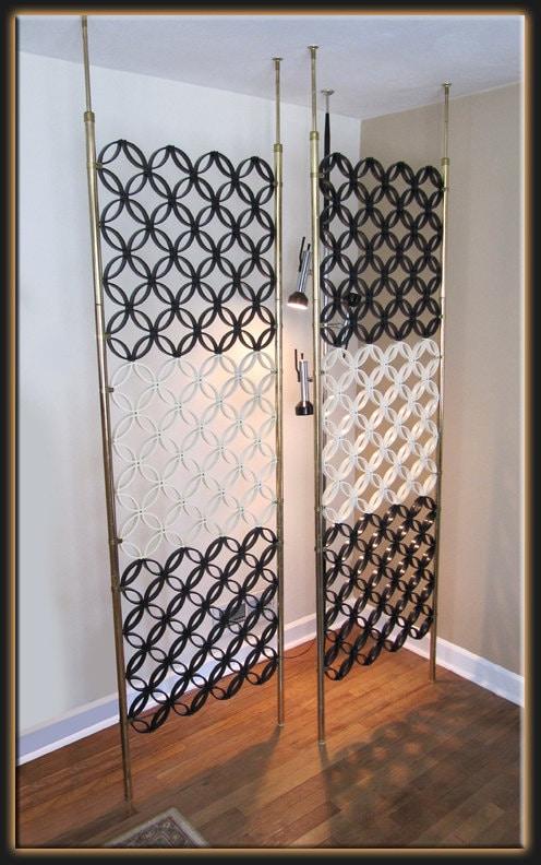 Modern black table lamp - Modern 2 Tension Pole Panel Room Iders White Amp Black Very Mod