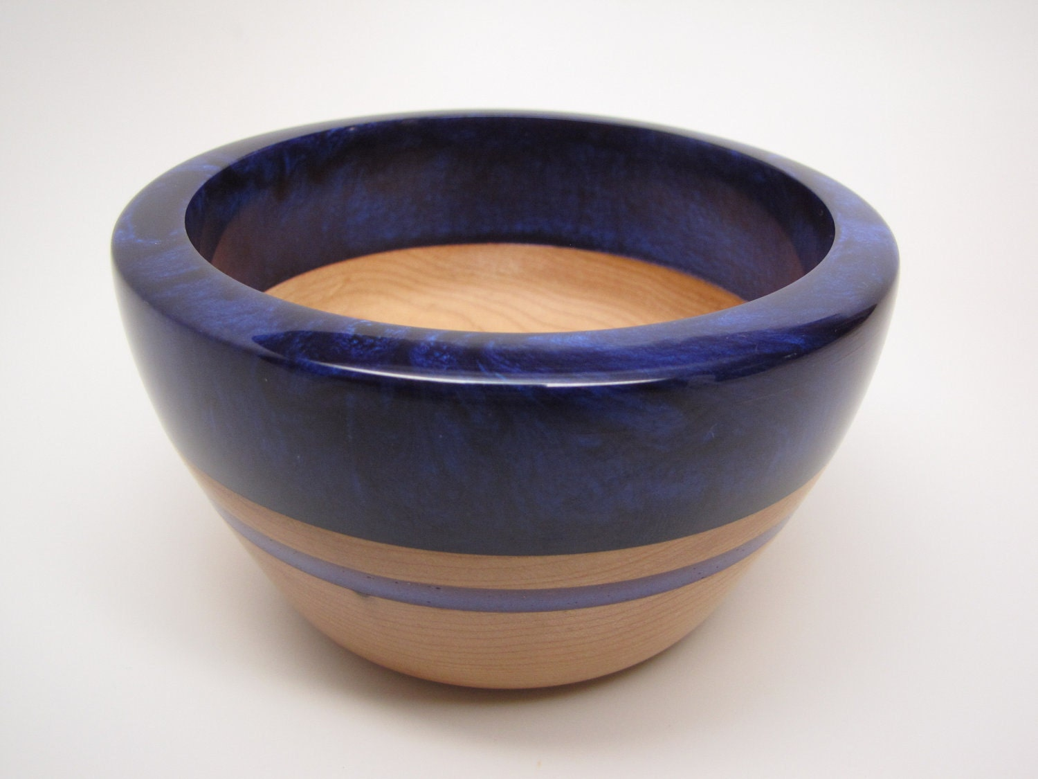 Hard  Maple Bowl with a Purple Pearl Top & Purple Inlay