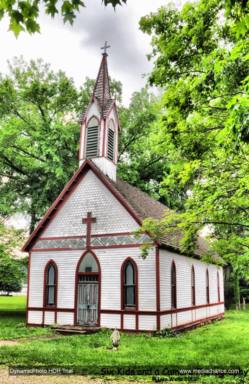 Sunday, Church, Primitive, HDR, Indiana, Country Church, 8.5 x 11 Print - sixkidsandacamera