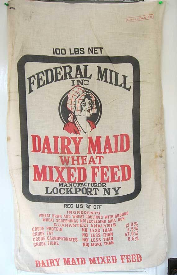 Vintage chalet vintage flour sacks potato sacks make