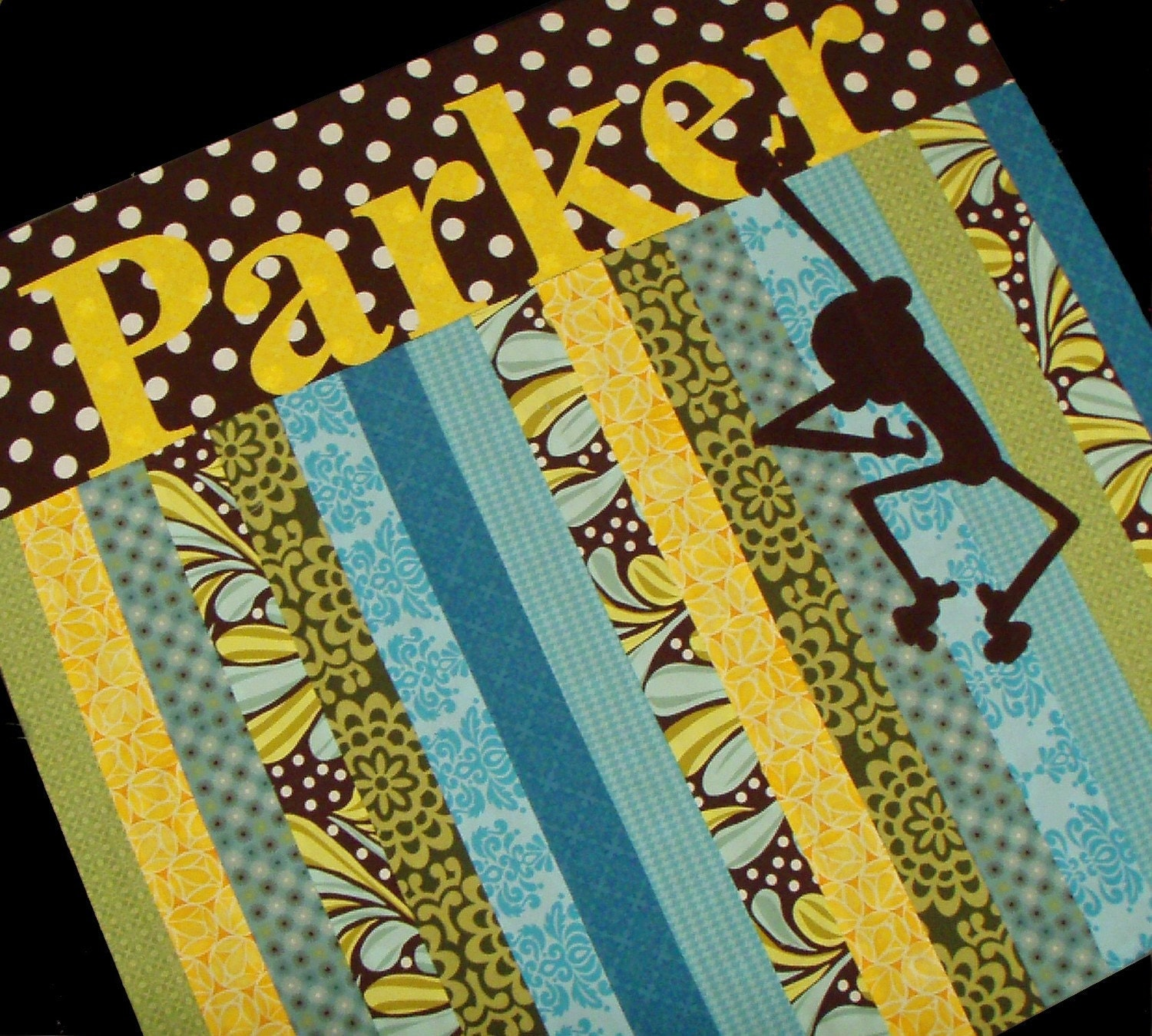 ON SALE Punky Monkey Portable Playmat, soft corduroy monkey, Free Shipping.