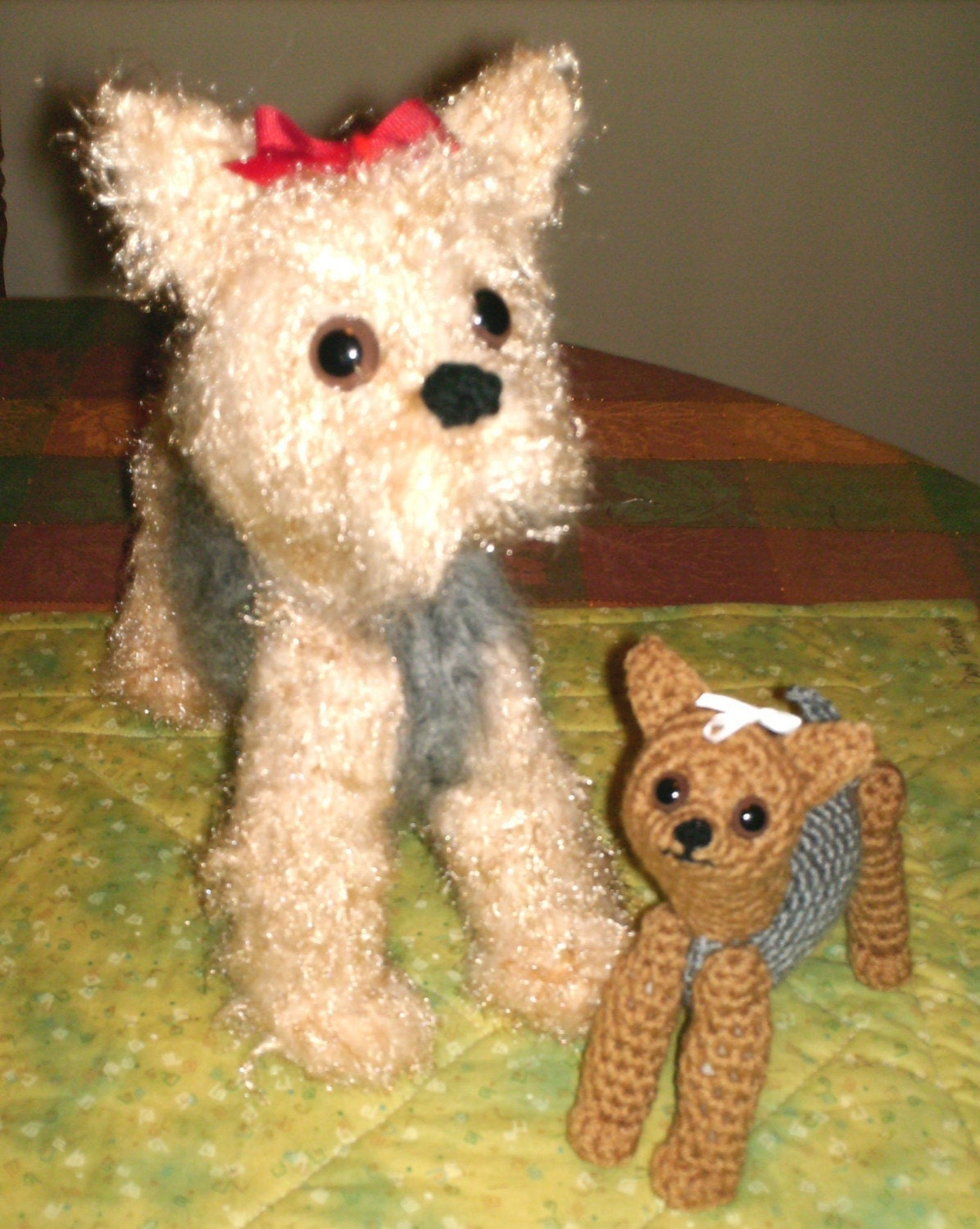 Crochet Pattern For Yorkie Dog : Yorkie Dog and Pup Amigurumi Crochet Pattern File by ...