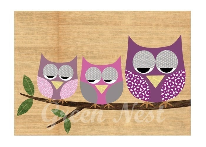 Cute Pics Of Owls. Cute purple baby owls sitting